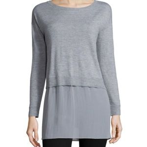 Eileen Fisher  Cashmere Box Top with Silk size s